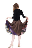 sable & sequin skirt - Poema Tango Clothes: handmade luxury clothing for Argentine tango