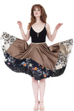 sable gold & silks skirt - Poema Tango Clothes: handmade luxury clothing for Argentine tango