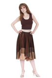 sable silk & sequins skirt - Poema Tango Clothes: handmade luxury clothing for Argentine tango