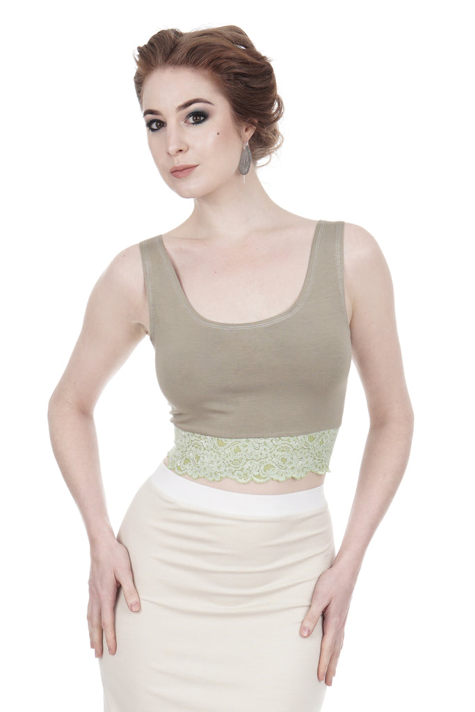 sage dance tank - Poema Tango Clothes: handmade luxury clothing for Argentine tango