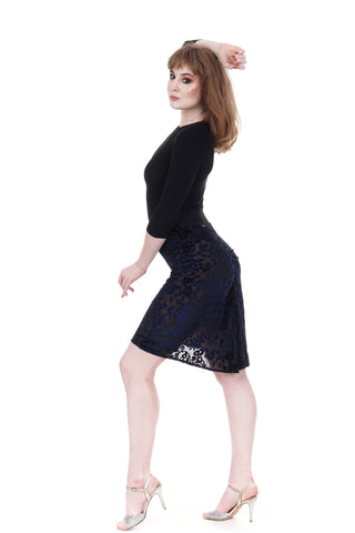 sapphire burnout ruched skirt