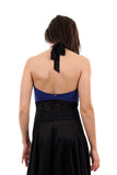 sapphire high neck halter - Poema Tango Clothes: handmade luxury clothing for Argentine tango