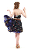 sapphire rose circle skirt - Poema Tango Clothes: handmade luxury clothing for Argentine tango