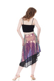 scarab & inky sequin draped skirt - Poema Tango Clothes: handmade luxury clothing for Argentine tango
