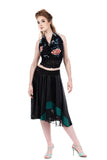 scarab striations circle skirt - Poema Tango Clothes: handmade luxury clothing for Argentine tango
