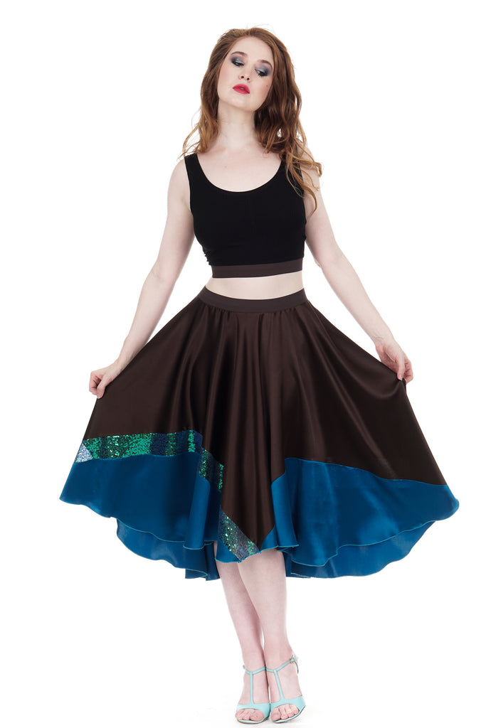 sea change circle skirt - Poema Tango Clothes: handmade luxury clothing for Argentine tango