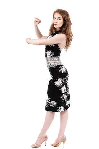 sea holly & snowflake lace ruched skirt
