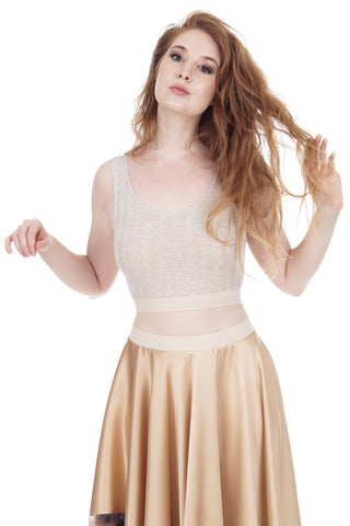 seashell rib knit dance crop