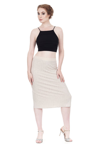 seashell rib knit pencil skirt - CLEARANCE