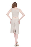 seashell rib knit ruched skirt - Poema Tango Clothes: handmade luxury clothing for Argentine tango