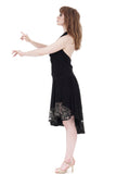sequin & tattoo mesh soft skirt - Poema Tango Clothes: handmade luxury clothing for Argentine tango