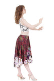 sequin silk & garden skirt - Poema Tango Clothes: handmade luxury clothing for Argentine tango
