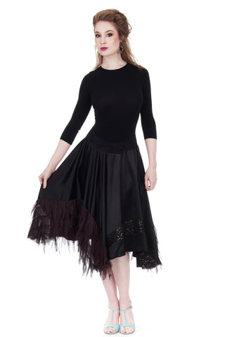 sequins & winefeathers skirt