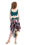 signature skirt in flower riot - Poema Tango Clothes: handmade luxury clothing for Argentine tango