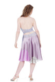 silver amethyst circle skirt - Poema Tango Clothes: handmade luxury clothing for Argentine tango