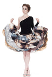 silver lining silk & sequin skirt - Poema Tango Clothes: handmade luxury clothing for Argentine tango