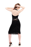 slink & sequin ruched skirt - Poema Tango Clothes: handmade luxury clothing for Argentine tango