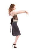 smoke gauze ruched skirt - Poema Tango Clothes: handmade luxury clothing for Argentine tango
