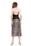 snake scale side ruched skirt - Poema Tango Clothes: handmade luxury clothing for Argentine tango