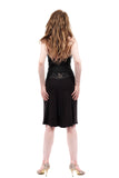 soft black embellished fluted skirt - Poema Tango Clothes: handmade luxury clothing for Argentine tango
