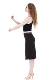 soft black pencil skirt - Poema Tango Clothes: handmade luxury clothing for Argentine tango