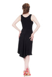soft black ruched dress - Poema Tango Clothes: handmade luxury clothing for Argentine tango