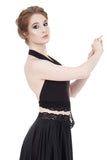 soft black tie-on top - Poema Tango Clothes: handmade luxury clothing for Argentine tango