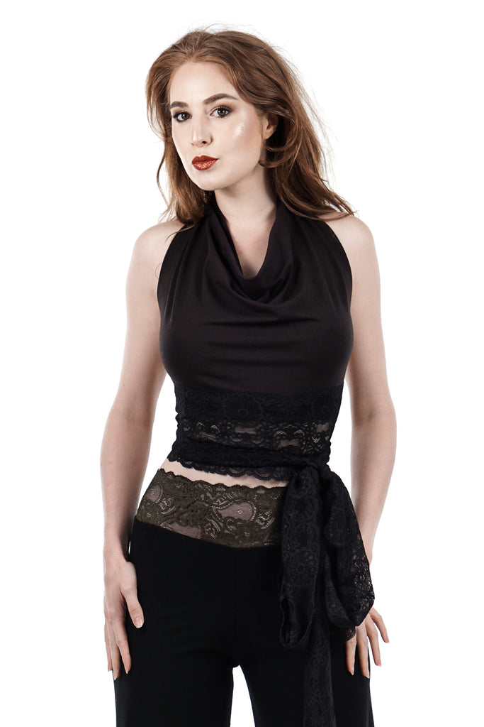 soft black wrap top - Poema Tango Clothes: handmade luxury clothing for Argentine tango