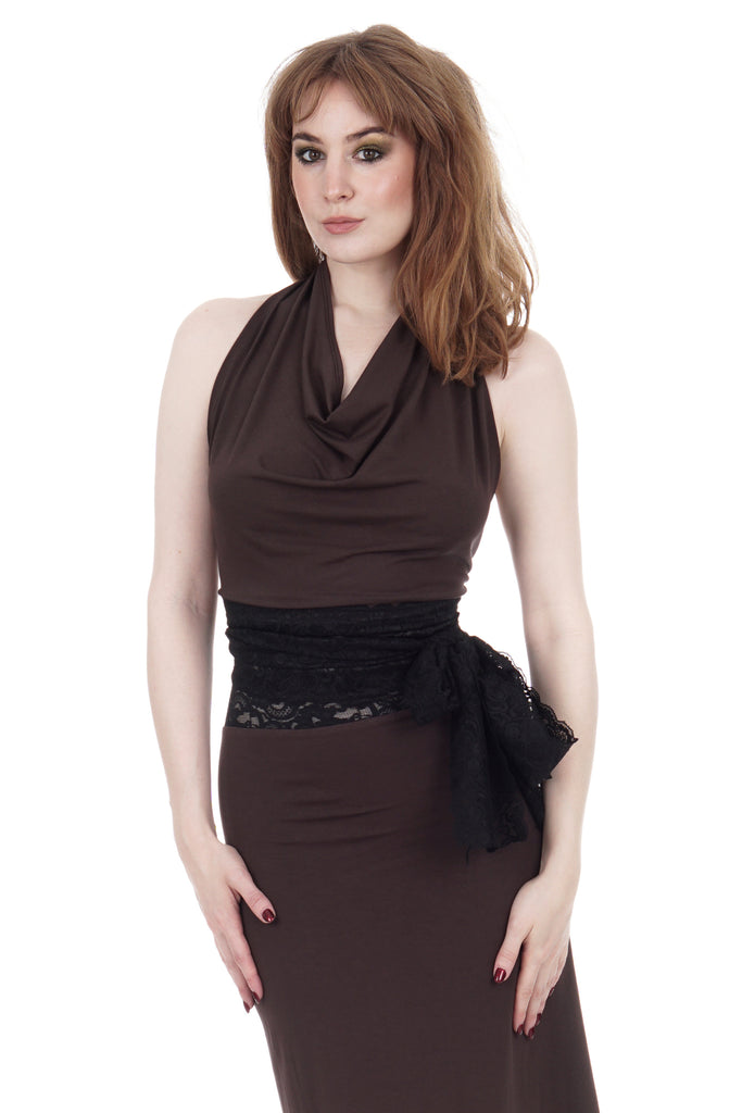 soft sable wrap top - Poema Tango Clothes: handmade luxury clothing for Argentine tango