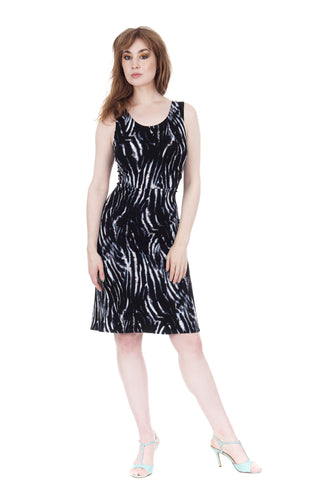 starlit pond ruched dress