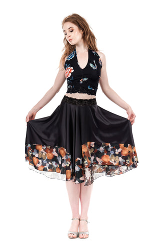 storm in the garden circle skirt