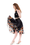 storm in the garden circle skirt - Poema Tango Clothes: handmade luxury clothing for Argentine tango