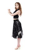 storm leopard circle skirt - Poema Tango Clothes: handmade luxury clothing for Argentine tango