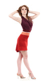 strawberry bamboo short skirt - Poema Tango Clothes: handmade luxury clothing for Argentine tango