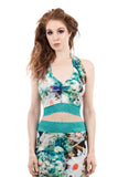 summer dreamscapes halter - Poema Tango Clothes: handmade luxury clothing for Argentine tango