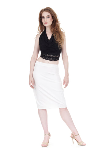 swan sport jersey pencil skirt - CLEARANCE