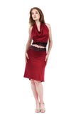 sweetrose and cabernet fluted skirt
