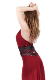 sweetrose and cabernet signature halter - Poema Tango Clothes: handmade luxury clothing for Argentine tango