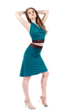 sweetrose and cerulean fluted skirt - Poema Tango Clothes: handmade luxury clothing for Argentine tango