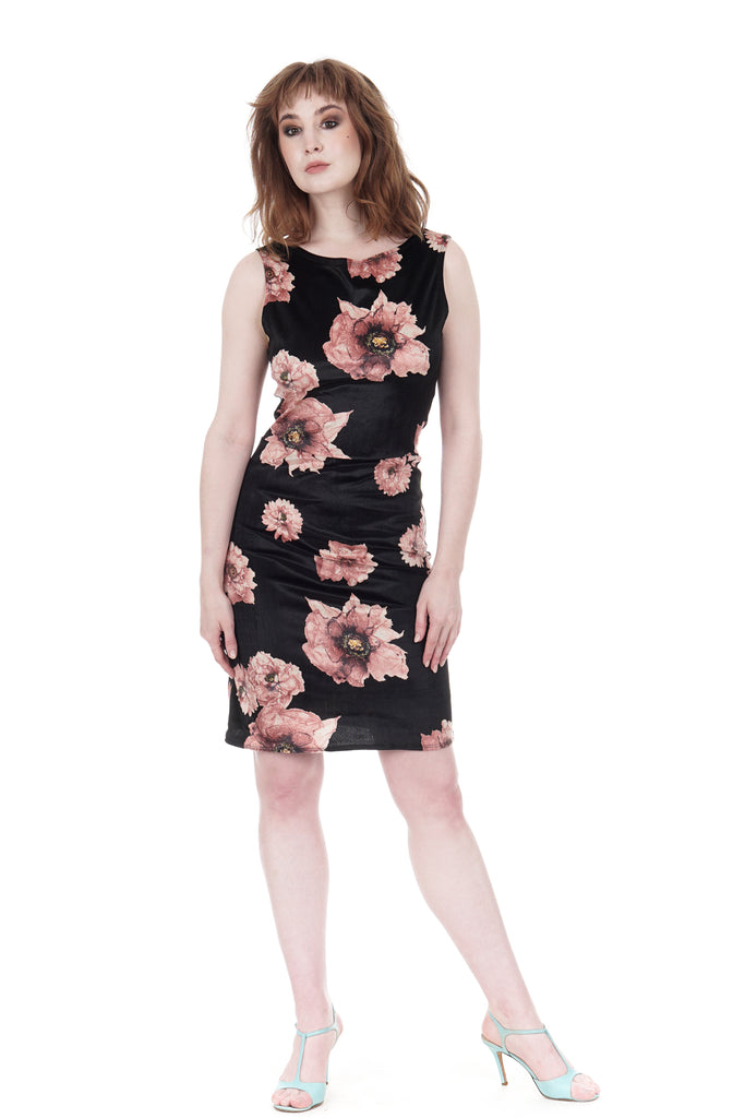 tatter blooms tank dress - Poema Tango Clothes: handmade luxury clothing for Argentine tango