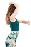 teal pine dance tank - Poema Tango Clothes: handmade luxury clothing for Argentine tango