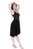 the ballet dress in black & olive burnout  - Poema Tango Clothes: handmade luxury clothing for Argentine tango