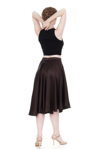 the ballet skirt in sable silk - CLEARANCE