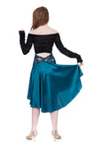 the signature skirt in aquamarine silk