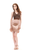 the signature skirt in ballet pink and powder pink lace - Poema Tango Clothes: handmade luxury clothing for Argentine tango