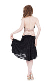 the signature skirt in black rose burnout - Poema Tango Clothes: handmade luxury clothing for Argentine tango