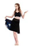 the signature skirt in black rust and artsilk - Poema Tango Clothes: handmade luxury clothing for Argentine tango