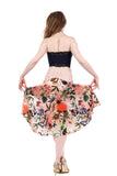 the signature skirt in botanic flush - Poema Tango Clothes: handmade luxury clothing for Argentine tango