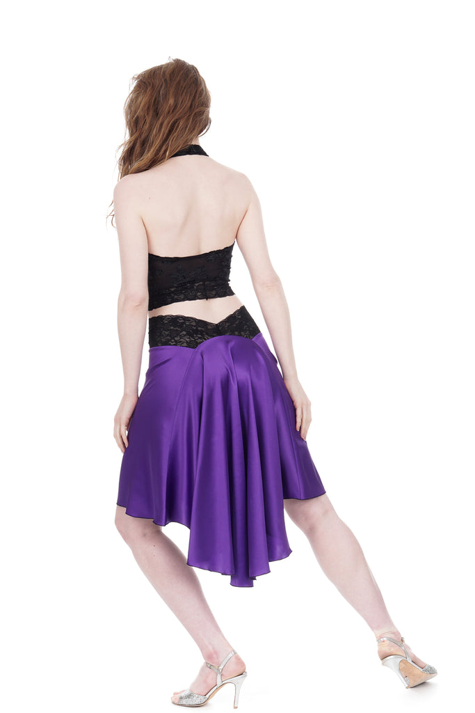 the signature skirt in brilliant amethyst - Poema Tango Clothes: handmade luxury clothing for Argentine tango