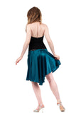 the signature skirt in cerulean silk - Poema Tango Clothes: handmade luxury clothing for Argentine tango